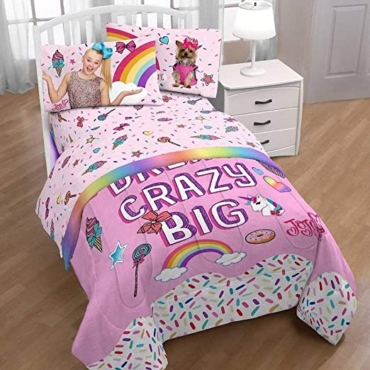 Amazon Com Jojo Siwa Nickelodeon Girls Pink Twin Bedding Sheets