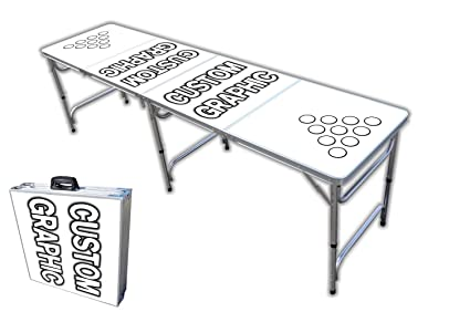 Amazoncom Custom Foot Professional Beer Pong Table W Cup - Custom vinyl decals for beer pong tables