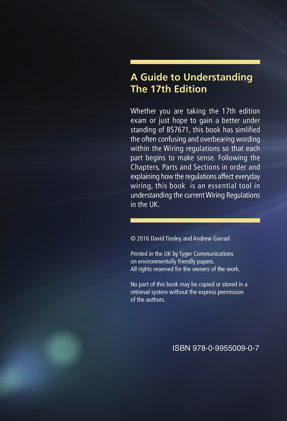 A Guide to Understanding the 17th Edition Wiring Regulations Amazon.co.uk David Tinsley Andrew Garrad 9780995500907 Books : wiring regulations uk - yogabreezes.com