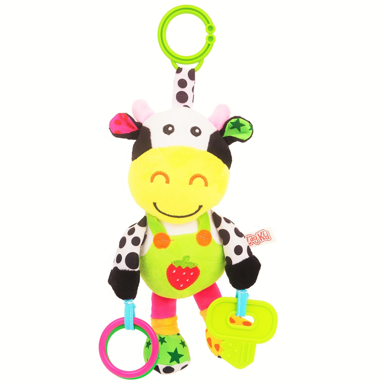 Amazon Musical Cow Soft Plush Baby Toy Rattle with Teether by