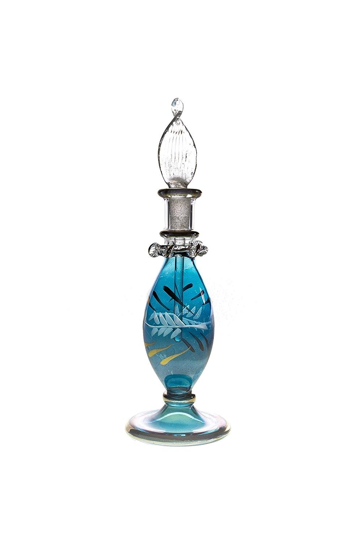 Egyptian Glass Bottle Perfume Bottle 12 cm High Handmade M001