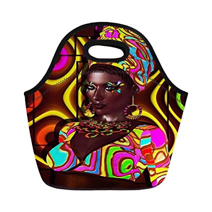 2c1f898fadc1 Amazon.com: Semtomn Lunch Bags African American Beauty Expressing ...