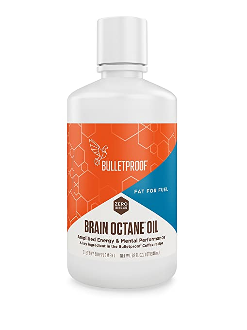 Bulletproof Brain Octane Oil, Reliable and Quick Source of Energy (32 Ounces)