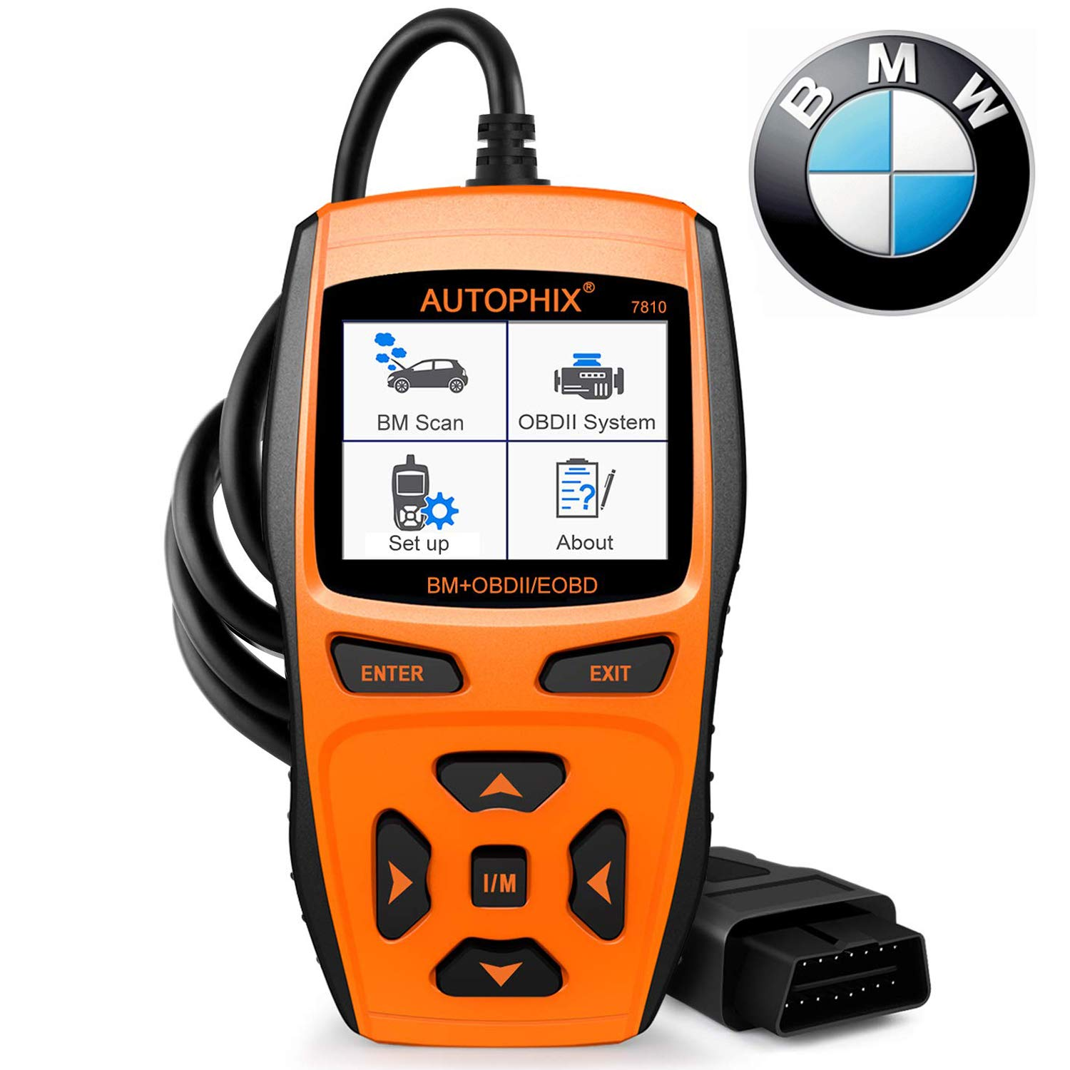 Scan Tool Automotive Scanner for BMW,AUTOPHIX 7810 Code Reader OBD2 Scanner/All System Car Diagnostic Scanner with Engine/EPB/SAS/EGS/DME/DDE/CBS/ECU/F Chassis Reset BMW Battery Registration Tool by AUTOPHIX (Image #1)
