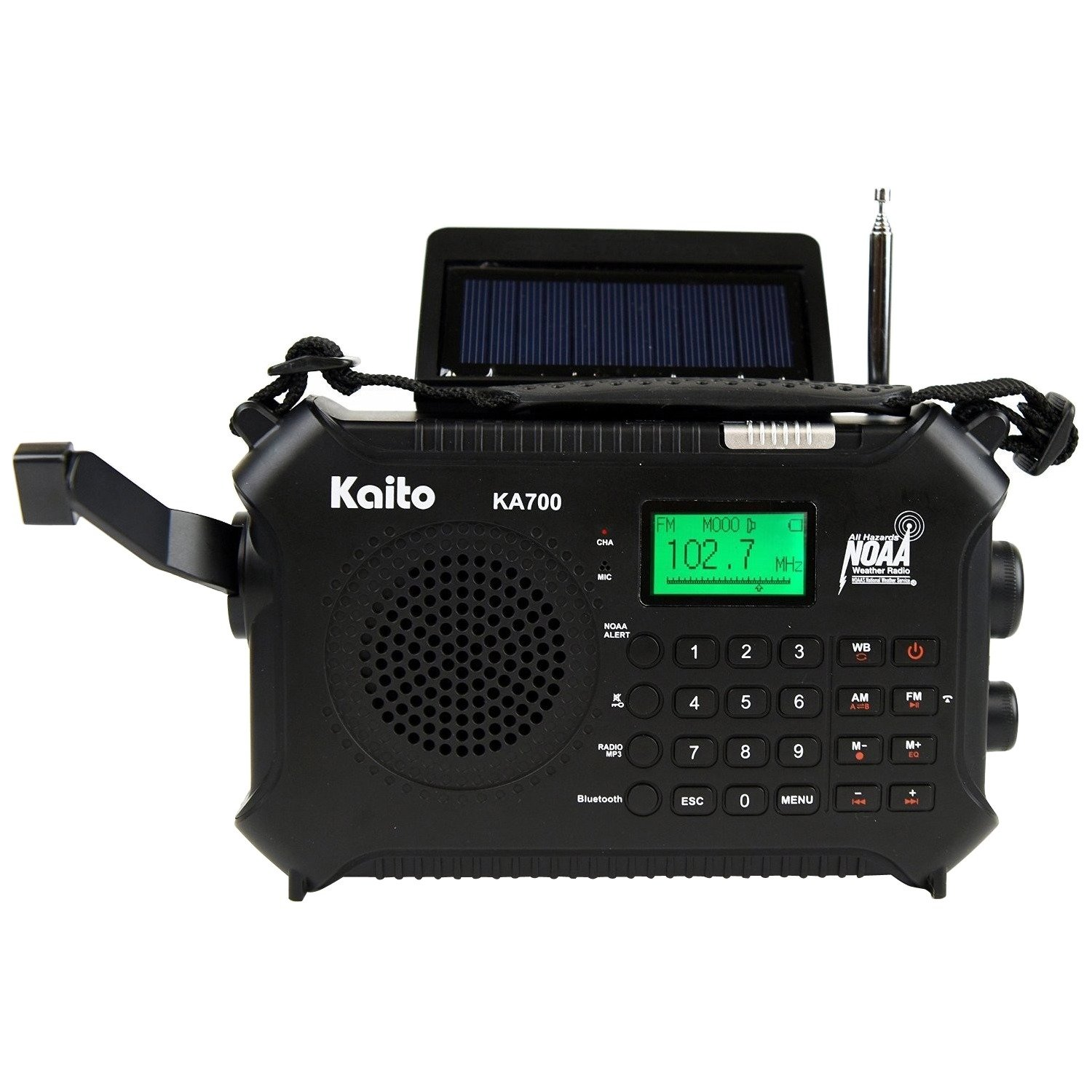 Kaito Solar Crnk BT AM FM WB SW NOAA