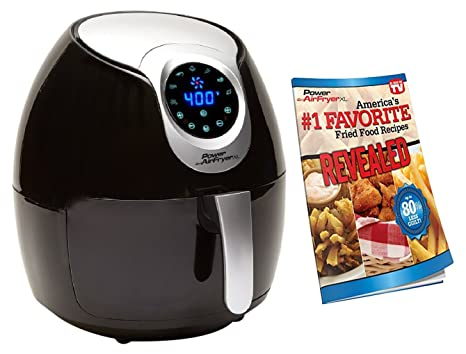 Power Air Fryer XL 3 4 QT Black - Turbo Cyclonic Airfryer With Rapid Air  Technology For Less or No Oil  Include Recipes Book