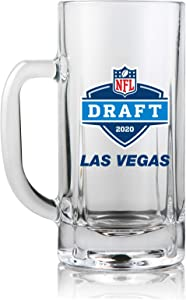NFL Draft Mug 2020 | Heavy Duty Glass with Handle | Weighted Base | 20 Oz.