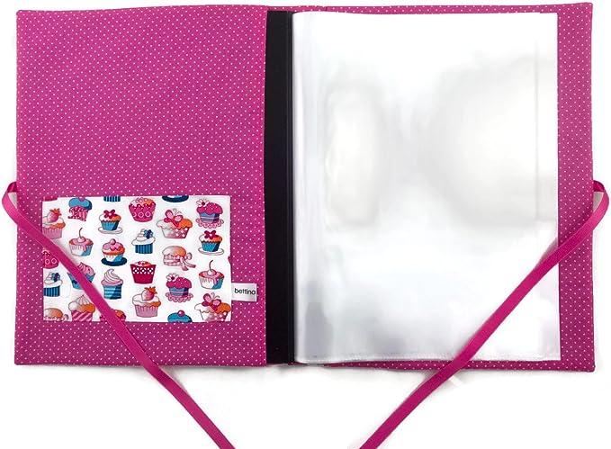 Sammelmappe DIN A4 Schmetterlinge weiß bunt pink innen 30 Sichthüllen