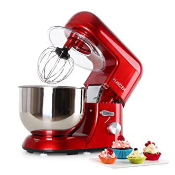 Amazon De Klarstein Tk2 Mix8 R Bella Rossa Kuchenmaschine 1200w 5