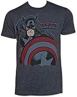 Marvel Captain America Deep Red Mens Lightweight T-Shirt