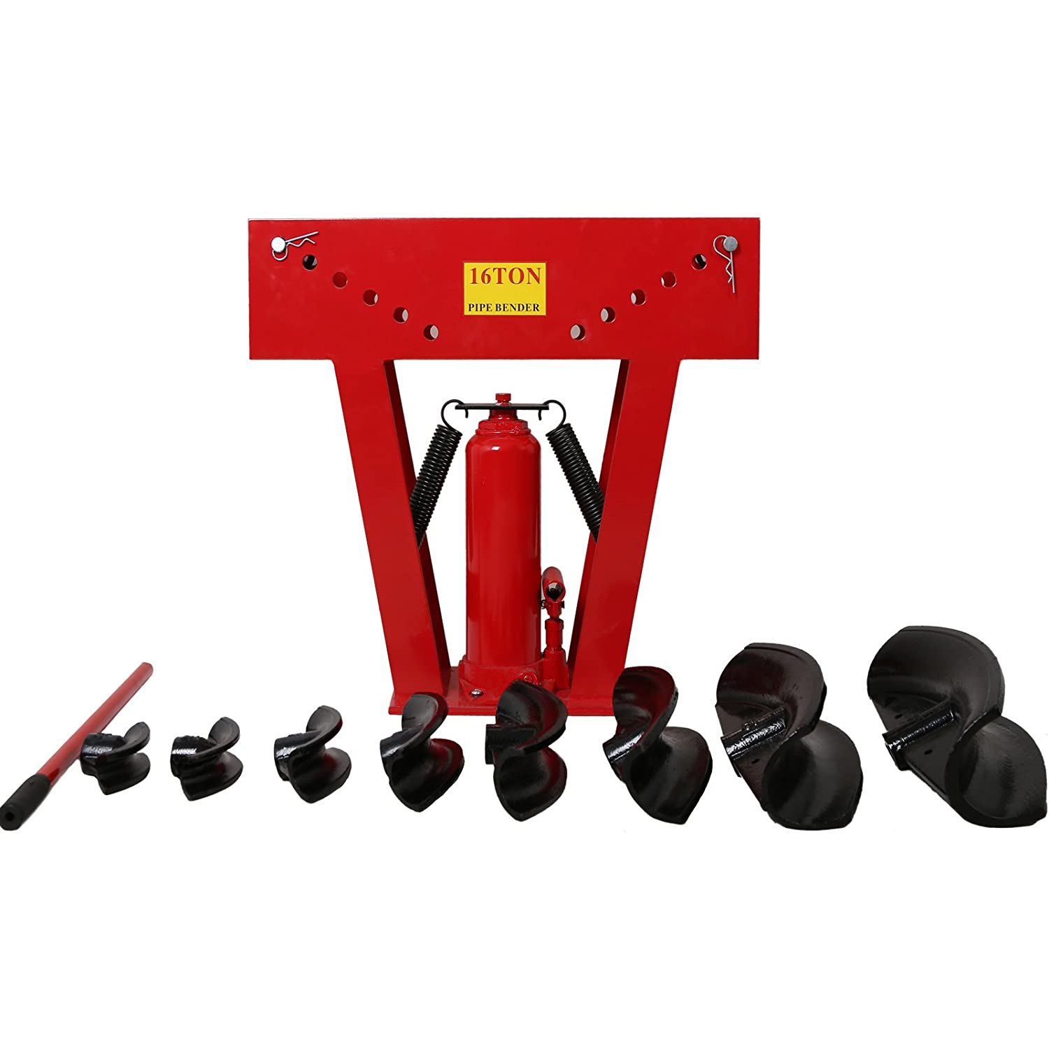 TIMBERTECH Pipe Hydraulic Bender for Cars and Heating Systems 12 T with 6 Dies