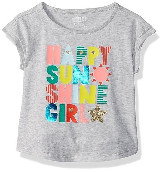 a098e7557 Amazon.com: Crazy 8 Toddler Short Dolman Sleeve Graphic Tee, Grey Sunshine  Girl, 12-18 Mo: Clothing