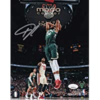 $169 » Giannis Antetokounmpo Autographed Signed Milwaukee 8x10 Dunk Photo JSA ITP