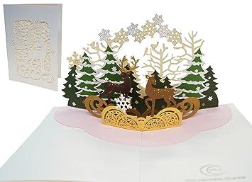 Lin Pop Up 3d Karte Pop Up Weihnachtskarten Pop Up Weihnachten