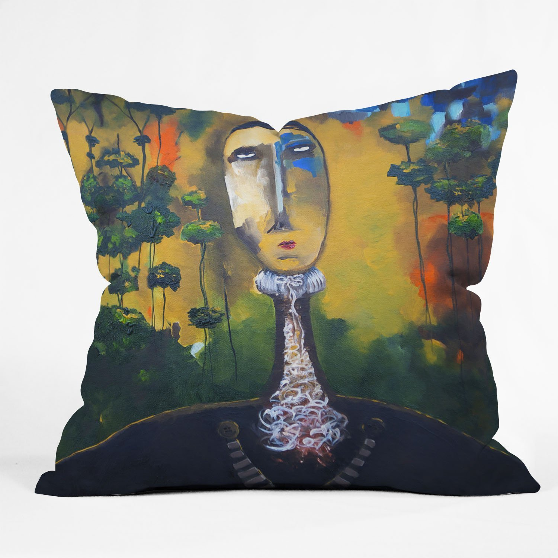 26 x 26 Deny Designs Robin Faye Gates Musical Chairs Throw Pillow