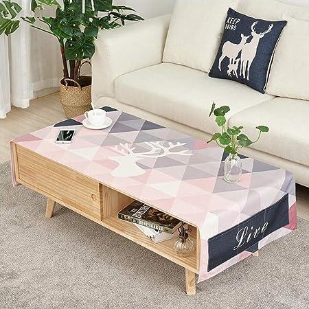 Yxdz Nordique Salon Table Basse Nappe Tissu Coton Et Lin Rectangulaire Meuble Tv Nappe Table De Chevet Nappe Rose 50 150cm Amazon Fr Cuisine Maison