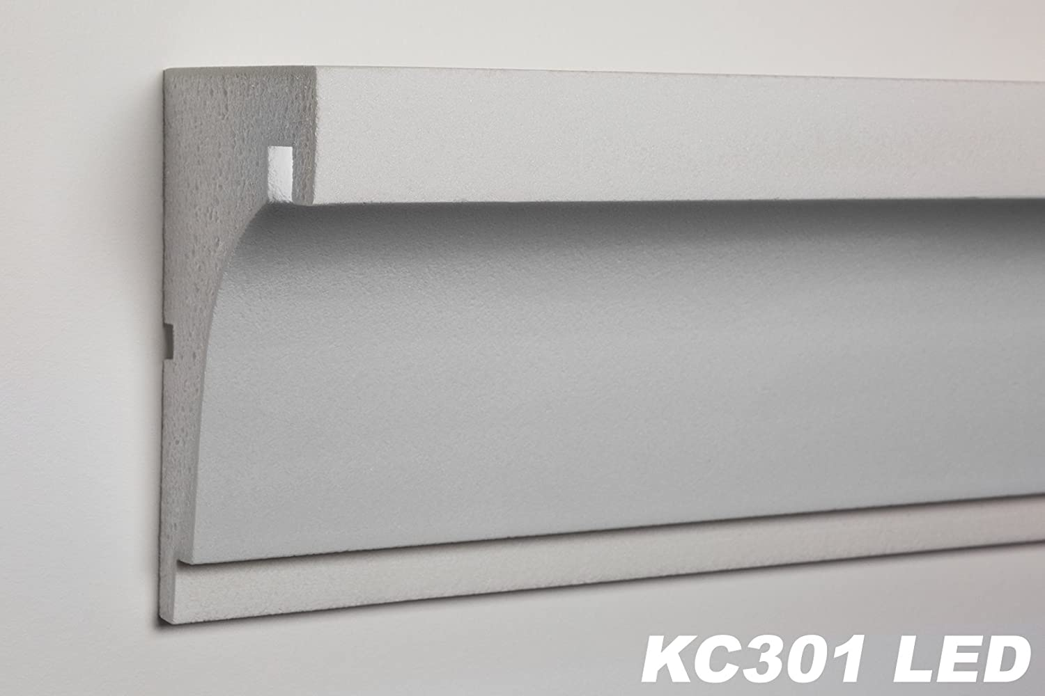 2/ m/ètres de Corniche Profil Fa/çade Barre d/éclairage antichoc LED 190/ x 120/ mm kc301/ LED