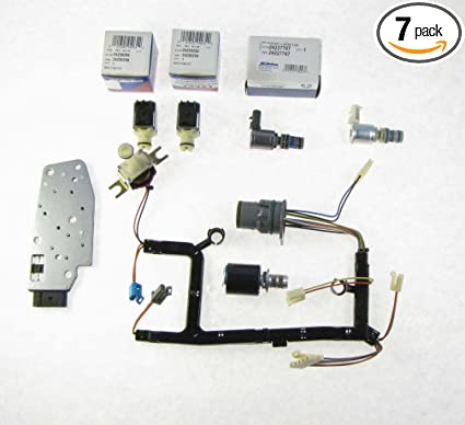 amazon com: gm 4l60e 7 piece solenoid and wire harness kit epc tcc shift  manifold 3-2: automotive