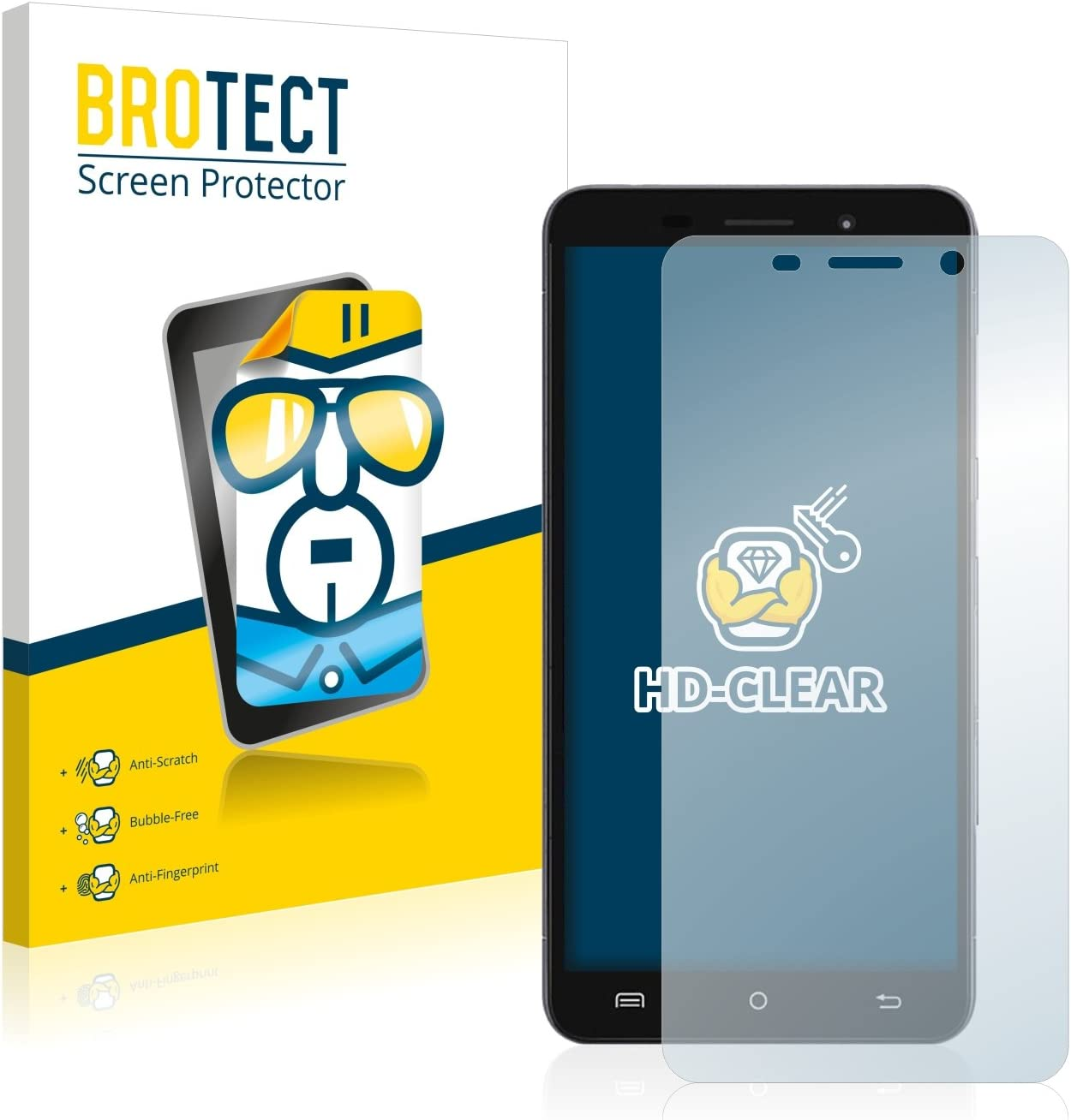 BROTECT Protector Pantalla Compatible con Cubot X9 Protector Transparente (2 Unidades) Anti-Huellas: Amazon.es: Electrónica