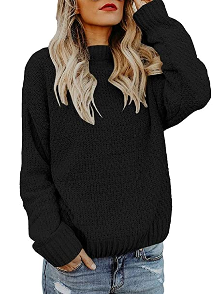 088f06b969b Beautife Womens Oversized Crewneck Sweaters Causal Long Sleeve Cable Knit  Chunky Heart Pullovers at Amazon Women s Clothing store