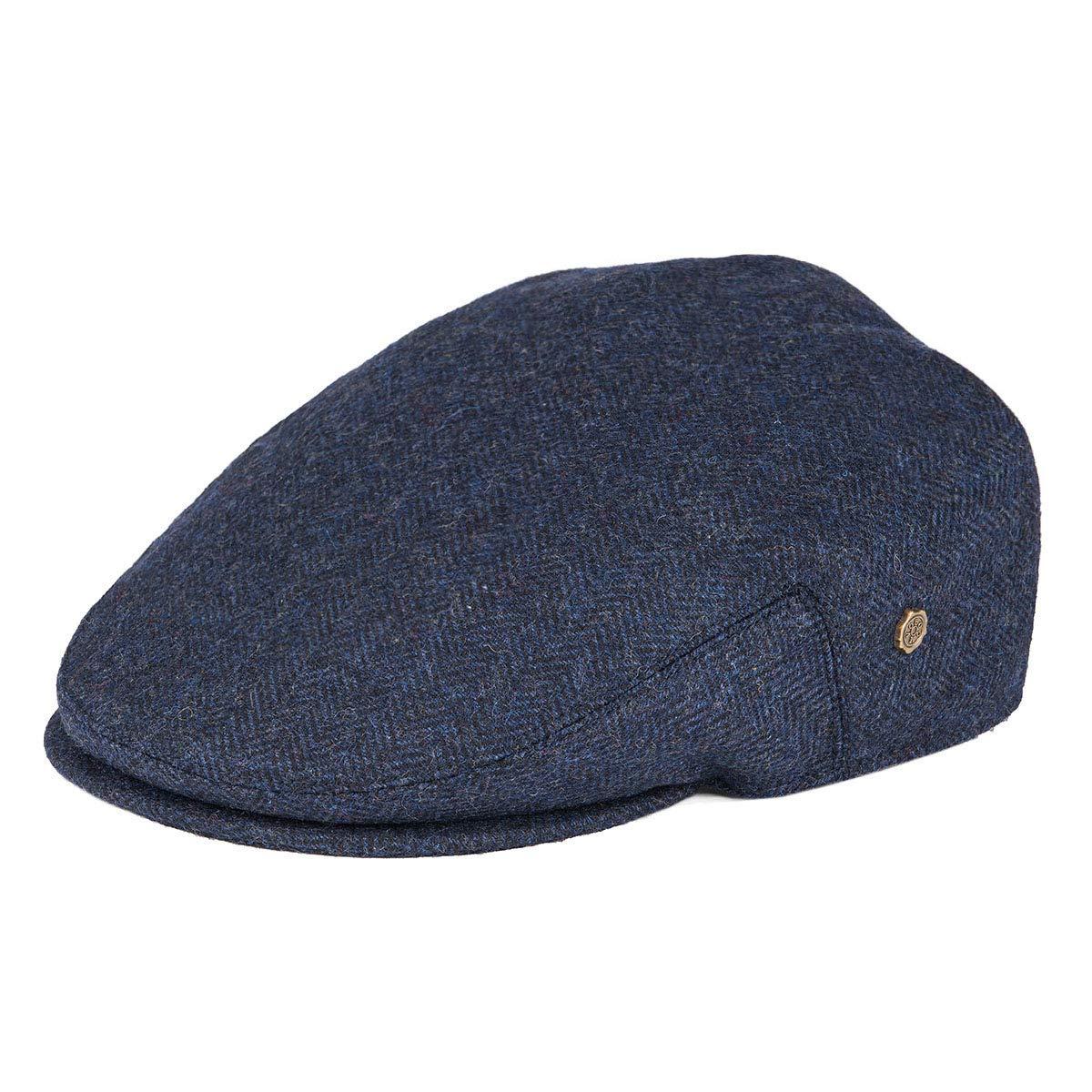 VOBOOM Mens Herringbone Flat Ivy Newsboy Hat Wool Blend Gatsby Cabbie Cap