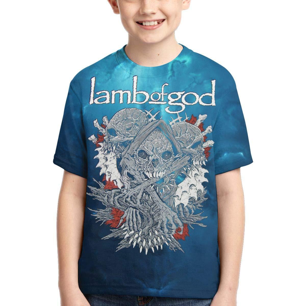 Shanala Dinosaur Rainbow Age 2-6 Kids T-Shirt for Girls Boys Black