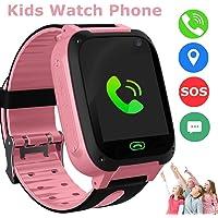 Niños Smart Watch Phone, GPS Tracker Smartwatch para niños de 3-12 años Niñas con cámara SOS Ranura para tarjeta SIM…