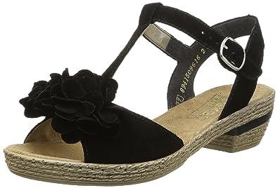 rieker 63262 damen plateau sandalen