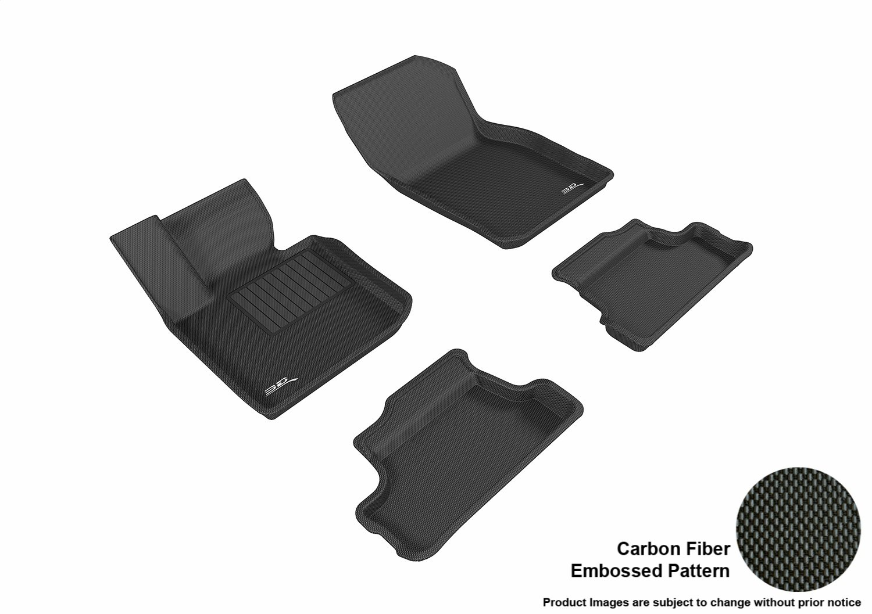 3D MAXpider L1MN01701509 Black All-Weather Floor Mat for Select Mini Convertible Models Complete Set