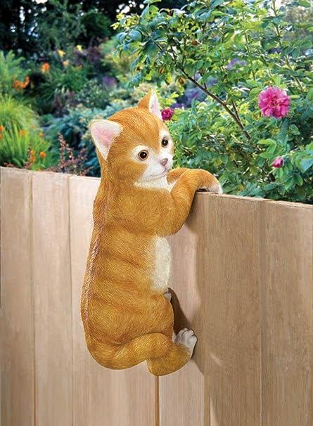 Garden Decor Climbing Cat Wall Fence Decor Amazon Co Uk Garden Outdoors