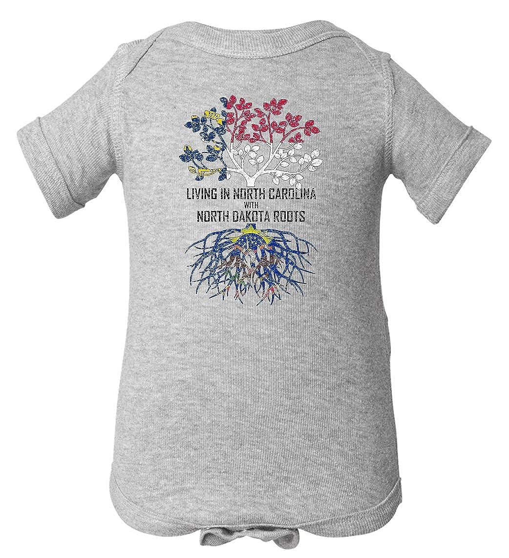 Tenacitee Babys Living in North Carolina North Dakota Roots Shirt