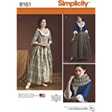 Simplicity 8161Tailles XVIIIe siècle Patrons costumes couture, blanc, Taille R5