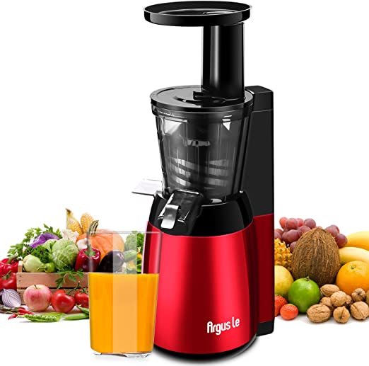 Argus Le Licuadora Sauldable de Frutas Exprimidor de Masticación Lenta Silencioso y Ahorrador de Energía 150W