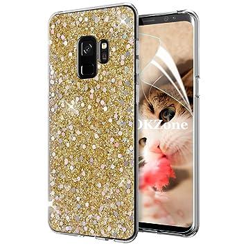 OKZone Funda Samsung Galaxy S9, Cárcasa Brilla Glitter Brillante ...