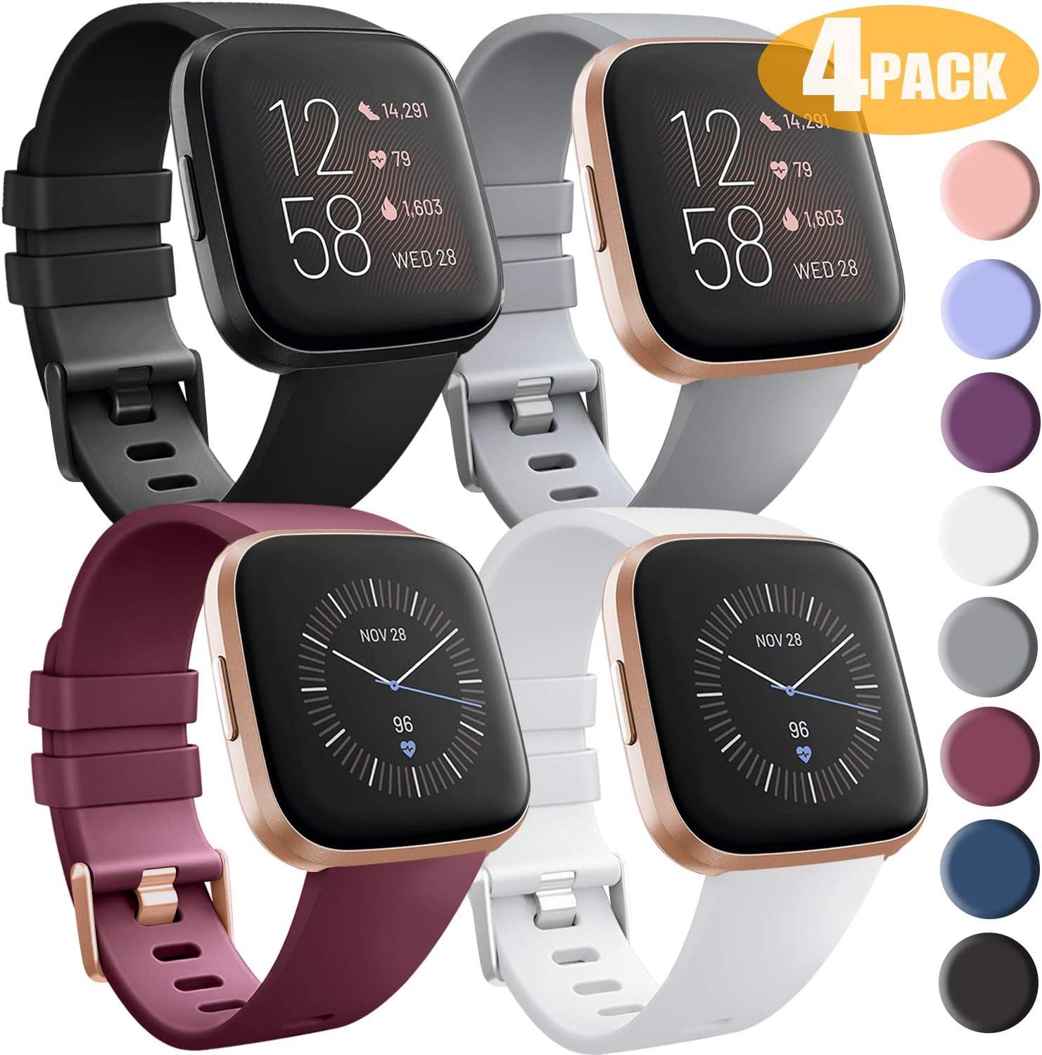 Malla De Reloj Fitbit Versa/versa 2/versa Lite/se - pack 4