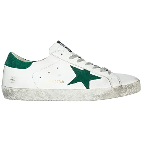 Golden Goose Superstar Zapatillas Deportivas Hombre White - Green Star: Amazon.es: Zapatos y complementos
