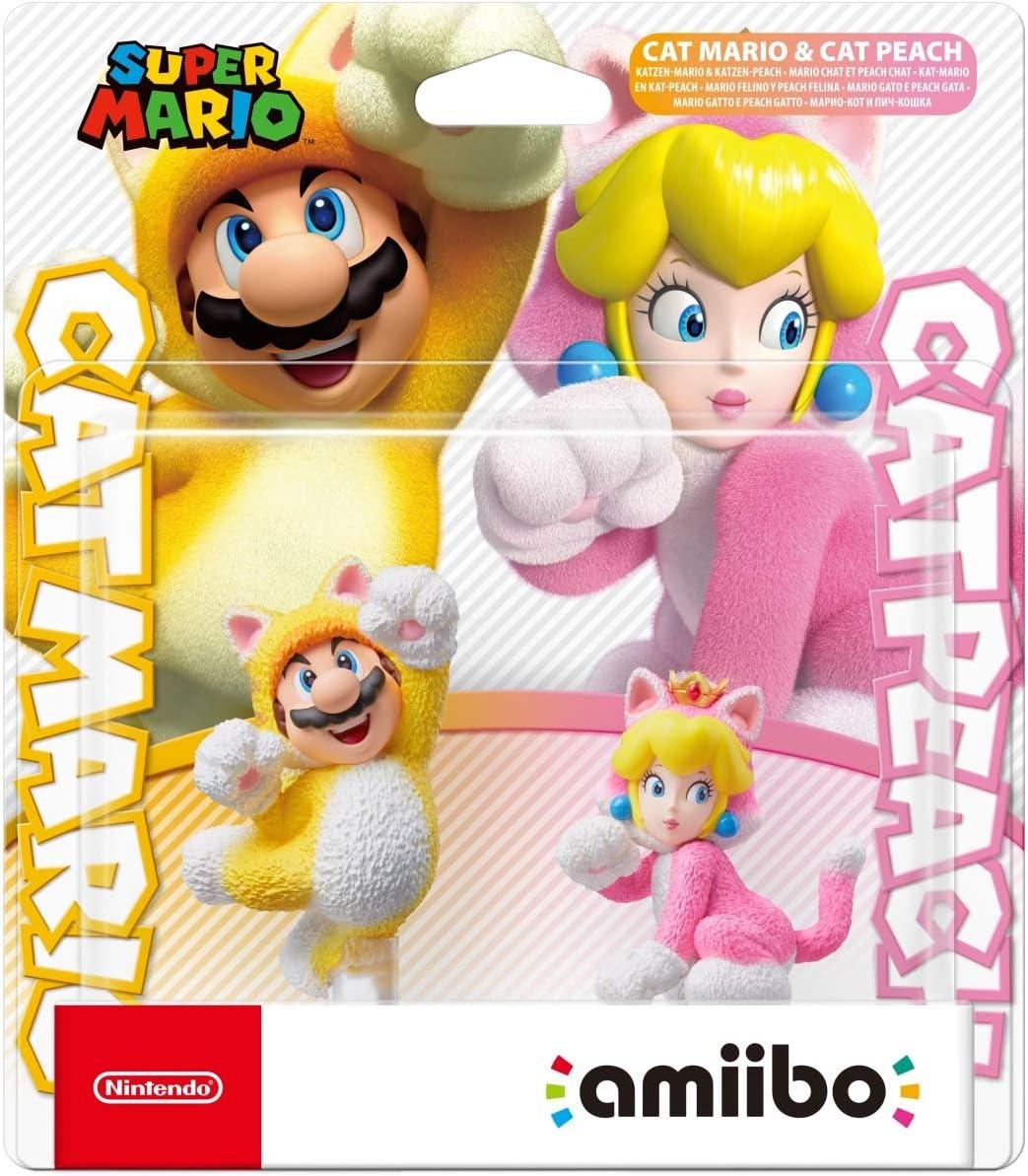 Cat Mario & Cat Peach Amiibo - Super Mario Series: Toys & Games