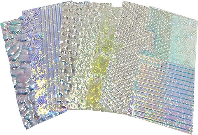 Wissmach Wafer Thin Dichroic Texture Scrap on Clear 90 Coe 1 Oz
