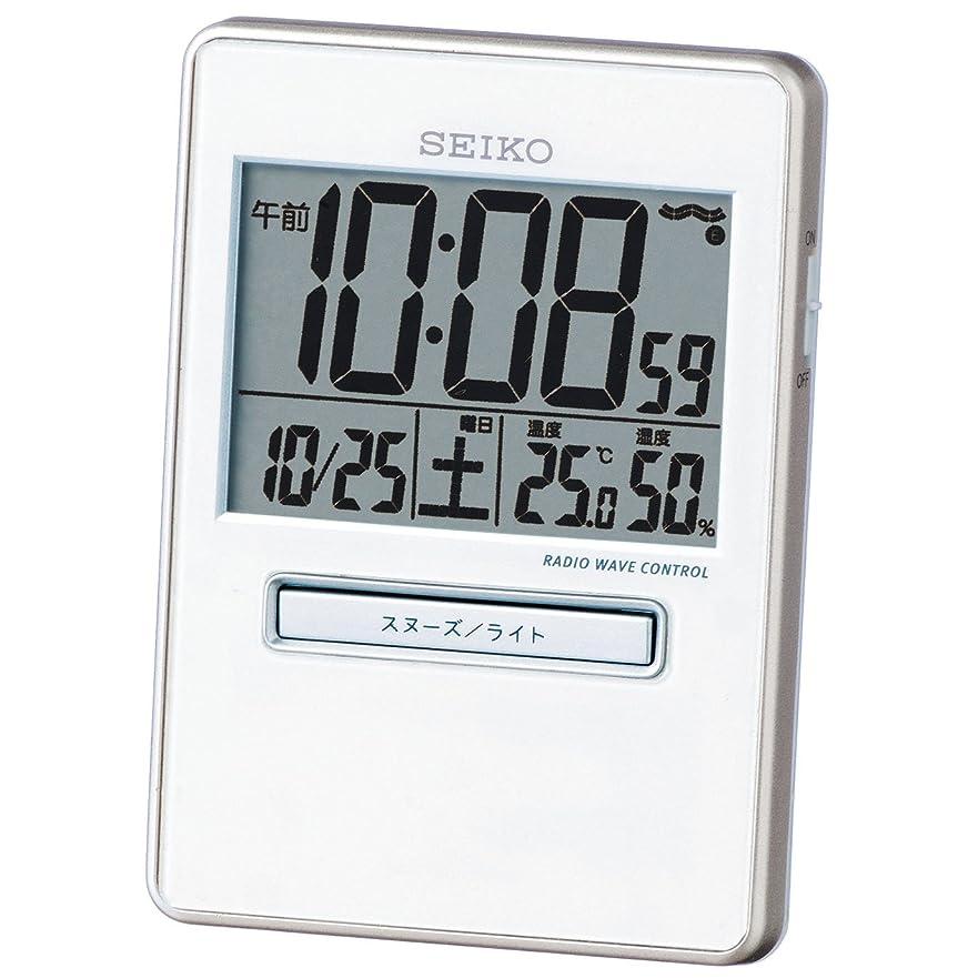 沿ってベテラン通知CASIO (カシオ) 温度湿度計付き電波アナログ目覚まし時計