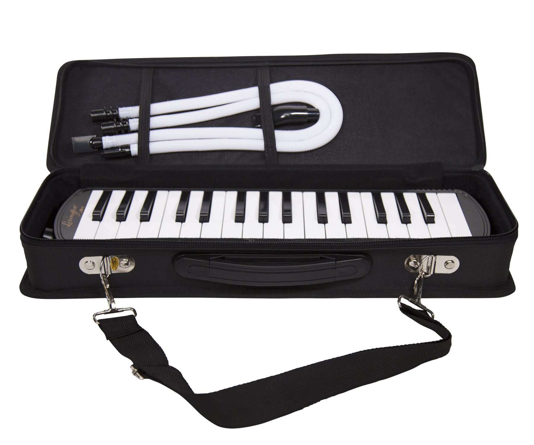 32 Piano Keys Melodica Made of Bronze Base and Reed, Package Includes 1 Carrying Case,1 Short, 2 Long Mouthpieces by Aileen (Image #8)