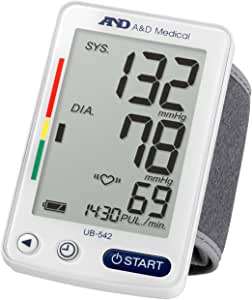 A&D Medical UB-542 Extra Large Display Wrist Blood Pressure Monitor