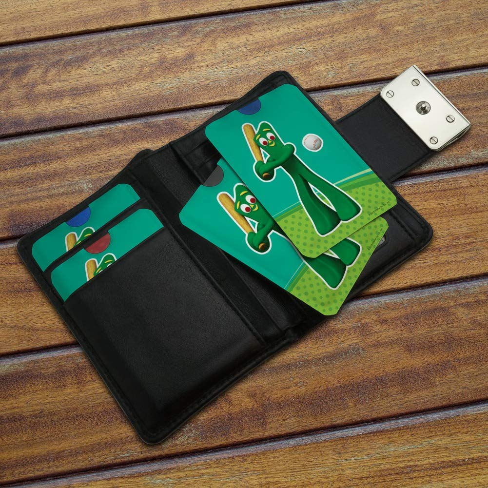 Baseball Player Gumby Credit Card RFID Blocker Holder Protector Wallet Purse Sleeves Set of 4