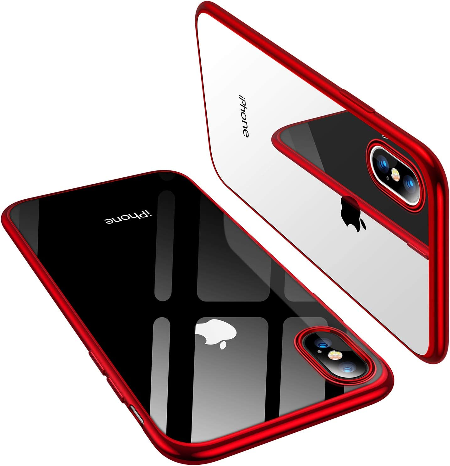 TORRAS iPhone Xs Case/iPhone X Case, Ultra Thin Slim Fit Soft Silicone TPU Cover Case Compatible with iPhone X/iPhone Xs 5.8 inch, Red