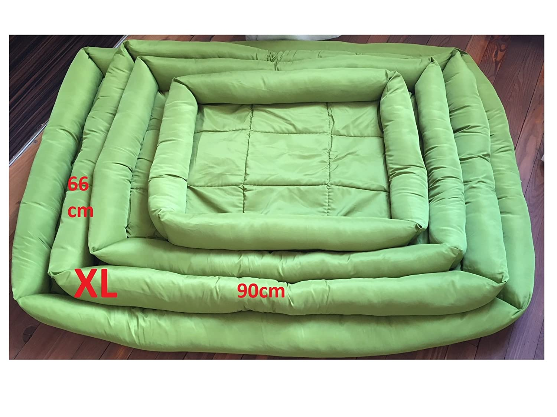 Doggy Lettino per cani taglia XL (66 x 90 cm), verde, lavabile, tessuto Oxford super confortevole e robusto