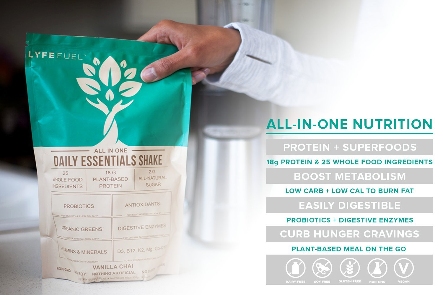 Amazon.com: Meal Replacement Shake, Complete Plant Based Vegan ...