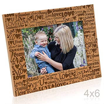 Kate Posh I Love You Grandma Grammie Engraved Picture Frame Grandma Me Gifts New Grandma New Baby Mothers Day Grandparents Day