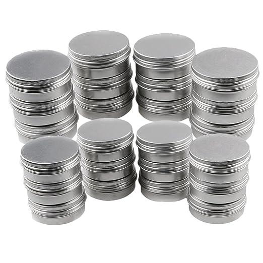 24pcs Tarro de Gel de Aluminio - Caja Vacía - Latas de Loción de ...