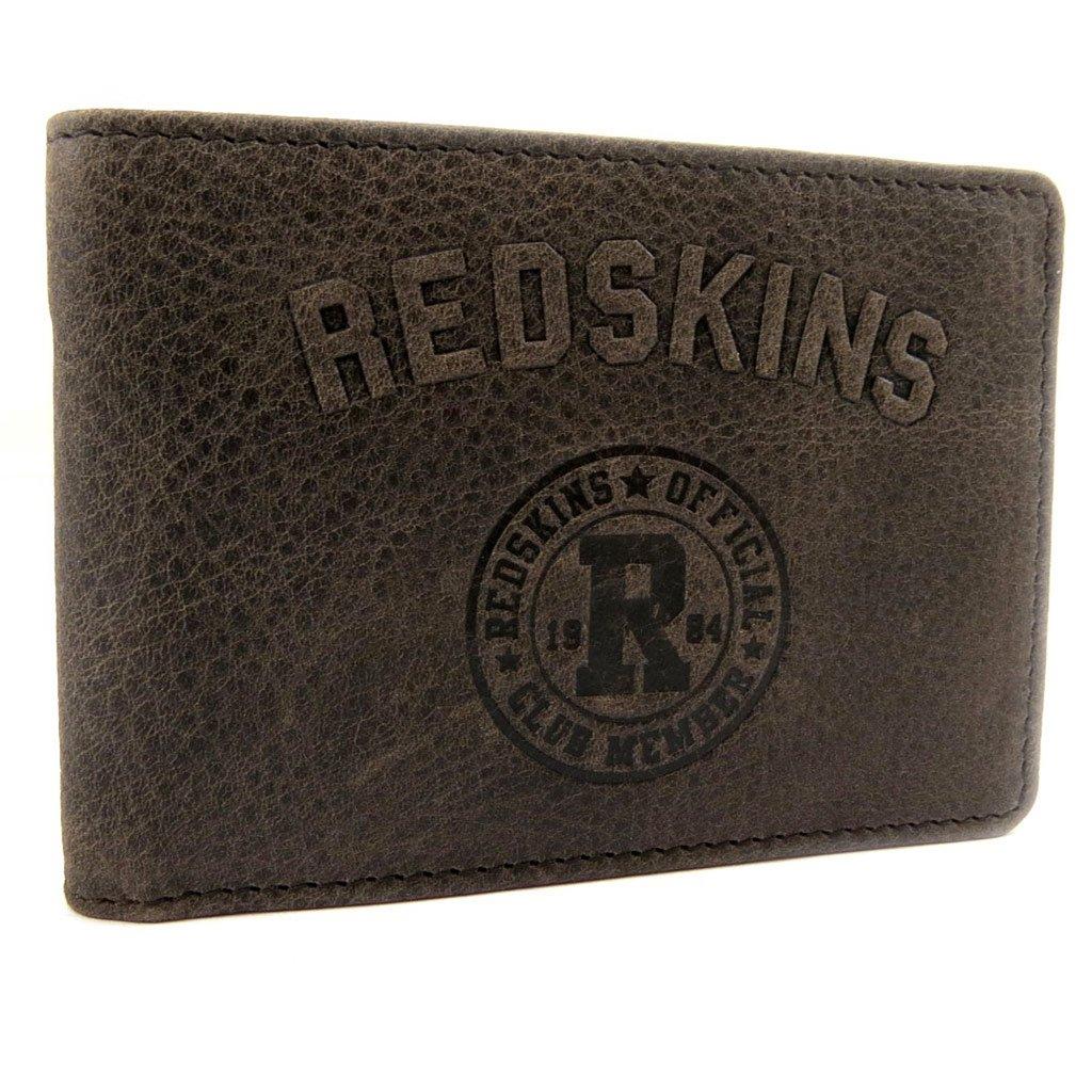 Leather cardholder 'Redskins' vintage brown. by Redskins
