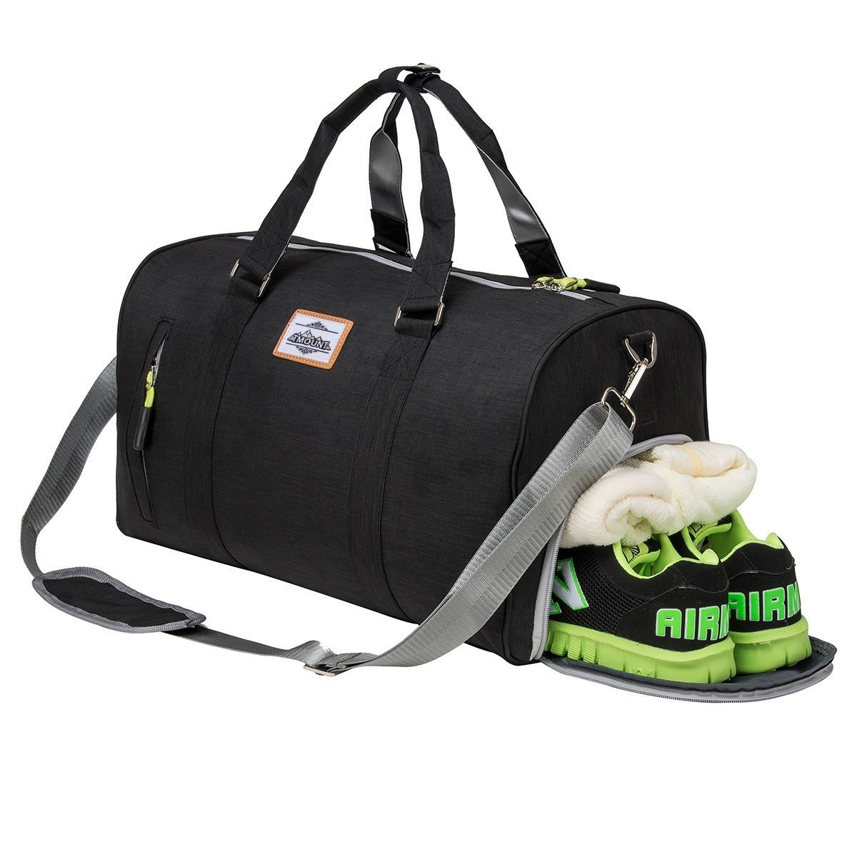 Amazon.com  Sport Gym Bag with Shoe Compartment Duffle Travel Bag for Men    Women  Sports   Outdoors 78565b7981