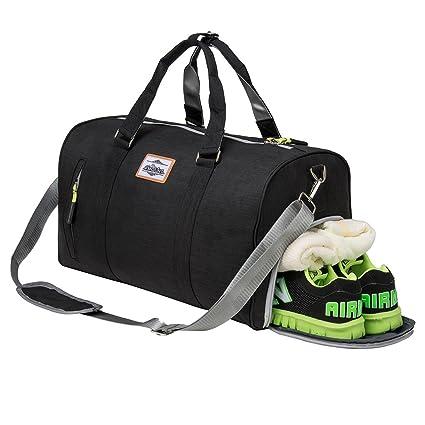 Amazon.com  Sport Gym Bag with Shoe Compartment Duffle Travel Bag ...